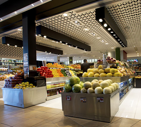 Fruit & Veg section of supermarket